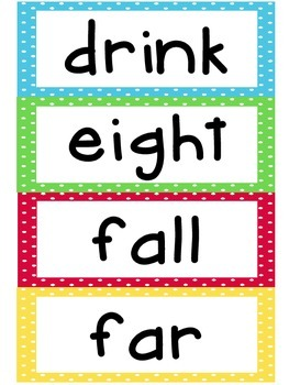3rd Grade Dolche Word Wall Words- Large