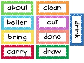 3rd Grade Dolche Word Wall Words- Small