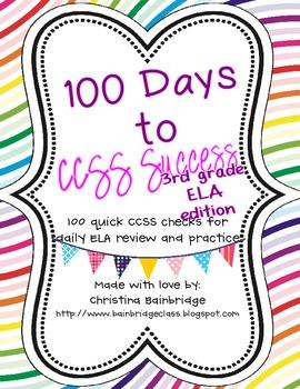 3rd Grade ELA- 100 Days to CCSS Success- Daily Review