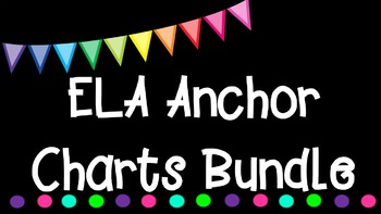 3rd Grade ELA Anchor Charts Graphic Organizers Bundle