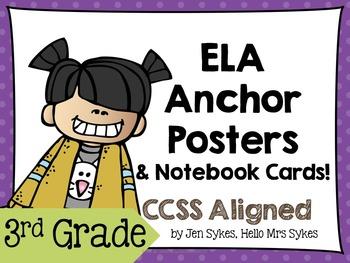 3rd Grade Anchor Charts ~ RL and RI standards