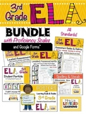 3rd Grade ELA Bundle with Proficiency Scales - EDITABLE