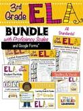 3rd Grade ELA Bundle with Marzano Proficiency Scales -  PDF & Google Forms