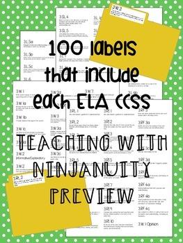 3rd Grade ELA CCSS Folder Labels
