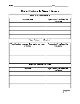 3rd Grade ELA Common Core Assessment for any novel