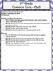 3rd Grade ELA Common Core Checklist - Lesson Planning Form