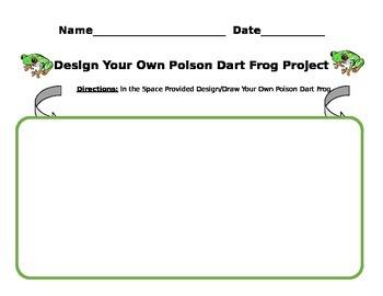 3rd Grade ELA Common Core Design your own Poison Dart Frog