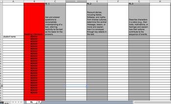 3rd Grade ELA Common Core Gradebook/Excel