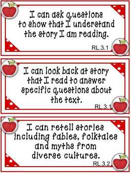 3rd Grade ELA Common Core I Can Posters and Cards by Nita Marie