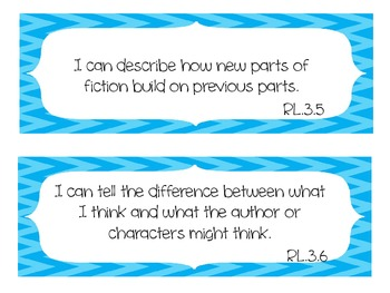 3rd Grade ELA Common Core I Can Standards