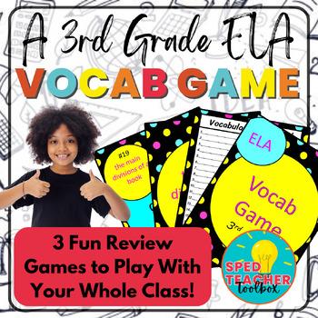 3rd Grade ELA Common Core Instructional Vocabulary Games
