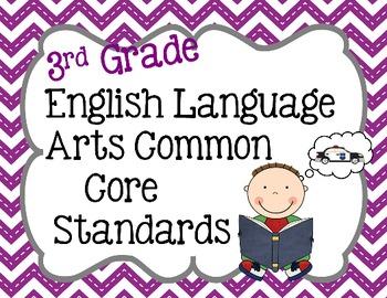 3rd Grade ELA Common Core Standard Posters