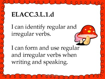 3rd Grade ELA Common Core Standards for Posting - Red Theme