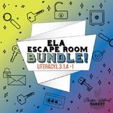 NO PREP 3rd Grade ELA Escape Room BUNDLE-ELA L.3.1-Digital 3rd Grade ELA