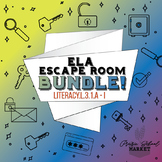 BUNDLE NO PREP 3rd Grade ELA Escape Rooms - L.3.1 - Digital English Activity