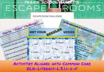 NO PREP 3rd Grade ELA Escape Room - ELA Grammar Escape -3rd Grade ELA Activities