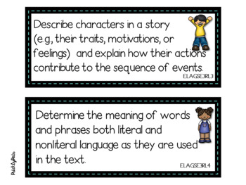 3rd Grade ELA GSE Georgia Standards of Excellence Posters -Kids Theme
