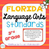 3rd Grade ELA I Can Statements: Florida LAFS Standards