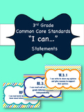 "3rd Grade ELA  ""I Can"" Statements - Over 100 posters!"