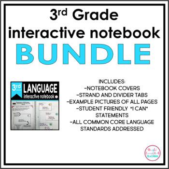 3rd Grade ELA Interactive Notebook BUNDLE