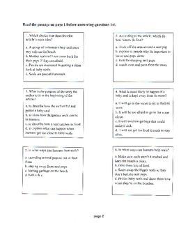 3rd Grade ELA KPREP NON-FICTION Scrimmage Test