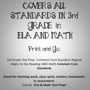 photo about 3rd Grade Reading Assessment Test Printable identified as 3rd Quality ELA Language Arts Math Printables Evaluations Preferred Main Deal