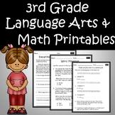 3rd Grade Language Arts & Math Review Worksheets Printables Google Classroom