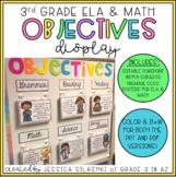 3rd Grade ELA & Math Objectives Display