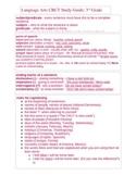 3rd Grade ELA, Math, SC, SS, Language Arts CRCT Study Guid
