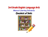 3rd Grade ELA Missouri Learning Standards Checklist of Skills