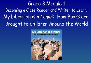 3rd Gr ELA Module 1 Unit 1 - Becoming a Close Reader & Writer - Aligned to CCLS