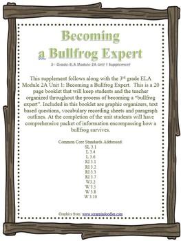 3rd Grade-ELA Module 2A-Unit 1 Supplement