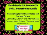 3rd Grade ELA Module 2B Unit 1 Power Point Lessons