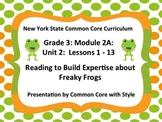 3rd Grade ELA Module 2a Unit 2 Lessons 1 - 13