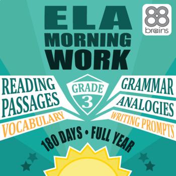 3rd Grade ELA Morning Work: Full Year Mega-Bundle (CCSS)