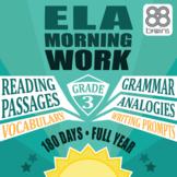 3rd Grade ELA Morning Work - Full Year Mega-Bundle (CCSS)