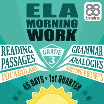 3rd Grade ELA Morning Work: Quarter 1 Bundle (CCSS)