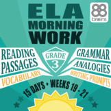 3rd Grade ELA Morning Work: Weeks 19-21 Mini-Bundle (CCSS)