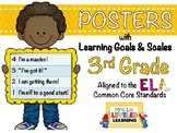 3rd Grade ELA Posters with Learning Goals and Scales - Ali