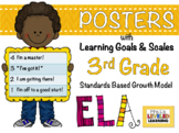 3rd Grade ELA Posters with Learning Goals and Scales - EDITABLE