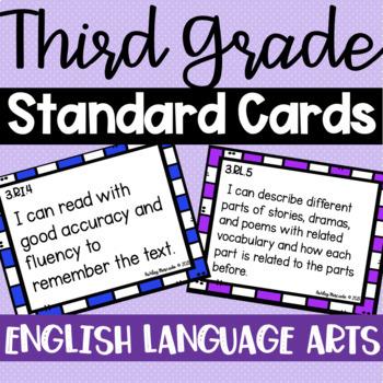 3rd Grade ELA Standard Cards