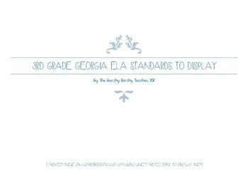 3rd Grade ELA Standards for Georgia (GSE)