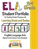 3rd Grade ELA Student Portfolio Pages with Marzano Scales - FREE!