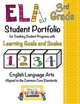 3rd Grade ELA Student Portfolio Pages with Marzano Scales - FREE!