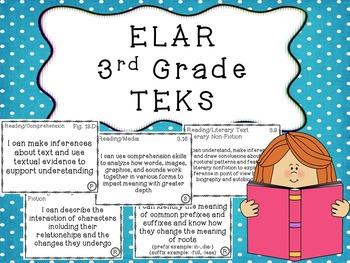 3rd Grade ELA TEKS