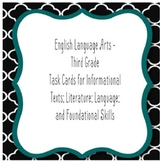 3rd Grade ELA Task Cards / Seat Work - Informational Text, Literature, Language