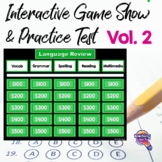 3rd Grade ELA Test Prep Game Show & Practice Review Test V