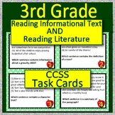 3rd Grade ELA Test Prep Task Cards Reading Informational AND Reading Literature