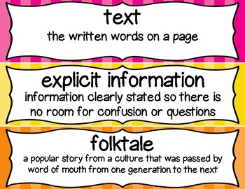 3rd Grade ELA Vocabulary Cards