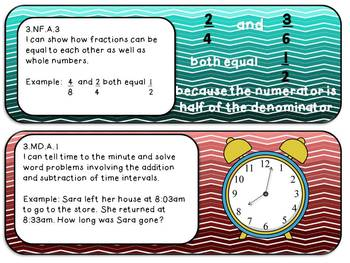 "3rd Grade ELA and Math Common Core ""I Can"" statements"